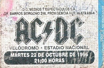 Entrada AC/DC Estadio Nacional.